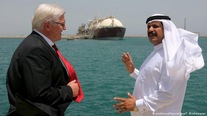 Steinmeier visiting Qatar (picture-alliance/dpa/T. Brakemeier)