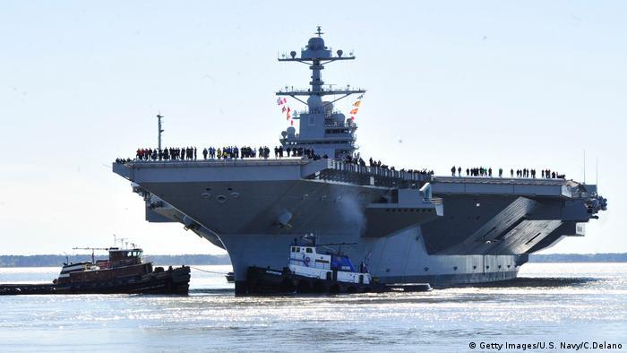USA Trump stellt modernsten Flugzeugträger der Welt in Dienst | USS Gerald R. Ford (Getty Images/U.S. Navy/C.Delano)