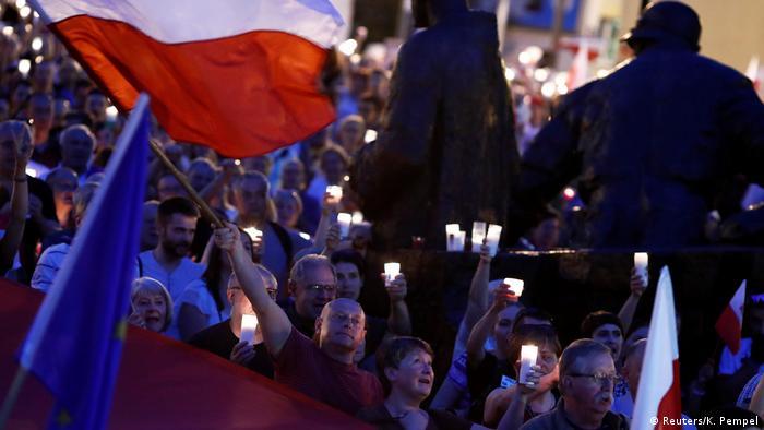 Протесты против судебной реформы в Польше, июль 2017