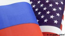 Russland und USA Flaggen