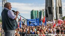 Polen Protest gegen Justizreform in Danzig - Lech Walesa