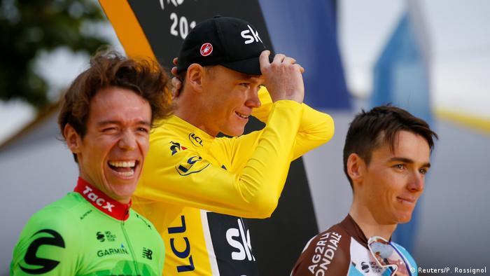 Frankreich Tour de France | 21. Etappe | Siegerehrung (Reuters/P. Rossignol)