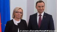 Julia Przylebska, die Präsidentin des Verfassungsgerichtshofs, und Polens Präsident Andrzej Duda (Foto: picture alliance/NurPhoto/M.Wlodaczyk)