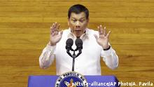 Philippinen Präsident Rodrigo Duterte Rede zur Lage der Nation