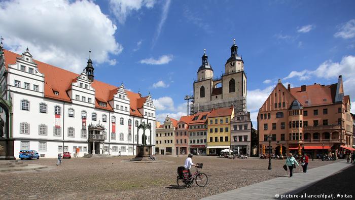 Рыночная площадь, Старая ратуша и храм Святой Марии, Виттенберг