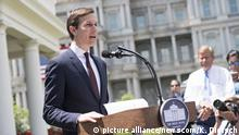July 24, 2017*** Jared Kushner, President Trump's son-in-law and senior advisor, speaks to the media outside the White House after Kushner met with the Senate Intelligence Committee on his contacts with Russian officials during the general election, in Washington, D.C. on July 24, 2017. Kushner said he did not collude with Russians, nor do he know of anyone in the campaign who did. Photo by Kevin Dietsch/UPI. Photo via Newscom picture alliance |