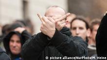 AfD-Anhänger auf einer Demonstration in Berlin