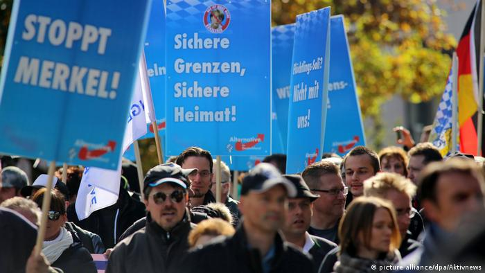 AfD supporters protesting (picture alliance/dpa/Aktivnews)