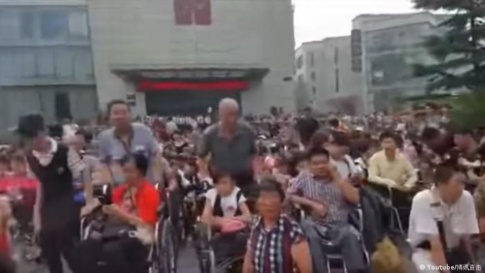 Screenshot Youtube Protest in Peking (Youtube/博讯直击)