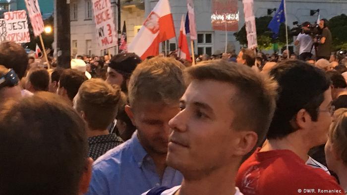 Багато молодих поляків долучилися до протестного руху