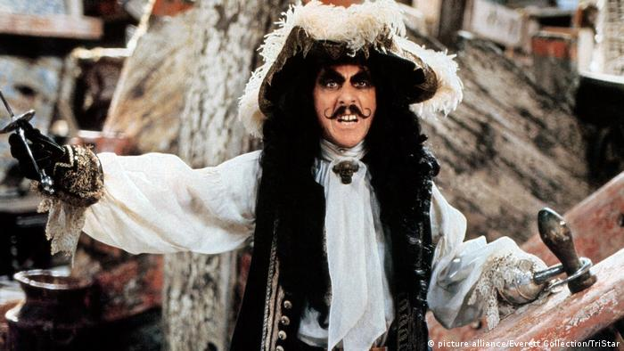 Dustin Hoffman als Captain Hook in Steven Spielbergs Film Hook (picture alliance/Everett Collection/TriStar)