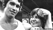 Arnold Schwarzenegger und US-Schauspielerin Sally Field bei Mister Universum - Stay Hungry