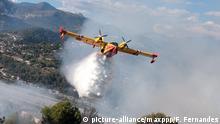 Frankreich Waldbrände bei Nizza