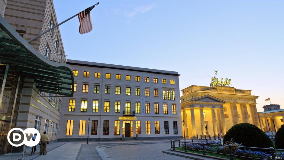 US diplomats have said two officials stationed in Germany sought medical treatment for symptoms including ear ache and fatigue, seemingly consistent w