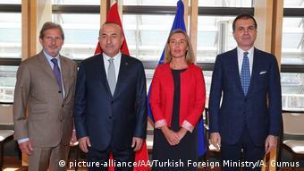 Brüssel EU Türkei Dialog Mogherini und Cavusoglu