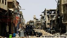 Zerstörte Gebäude in Mossul