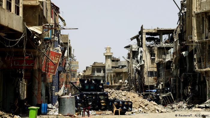 Syrien zerstörte Gebäude in Mosul (Reuters/T. Al-Sudani)