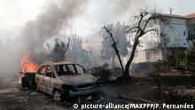 Costa mediterrânea francesa em chamas