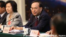 --FILE--Sun Zhengcai, Secretary of the Chongqing Municipal Committee of the Communist Party of China, attends a panel discussion of the Chongqing delegation during the Fourth Session of the 12th NPC (National People's Congress) in Beijing, China, 6 March 2016. The former Communist Party boss of one of China's most important cities, the southwestern megalopolis of Chongqing, is under investigation for suspected serious violations of discipline, the party's anti-corruption watchdog said on Monday. Sun Zhengcai, a senior official once considered a contender for top leadership, had been party chief of the city until an abrupt announcement this month that he had been replaced by a rising political star close to President Xi Jinping. Chongqing is perhaps best known outside the country for its association with its disgraced former party boss Bo Xilai, who was once himself a contender for top leadership before being jailed for life in 2013 in a dramatic corruption scandal. The Central Commission for Discipline Inspection (CCDI) announced the investigation into Sun in a one-line statement on its website, a move that comes ahead of a key party congress in the autumn where Xi will cement his grip on power. Foto: Liu Yuanru/Imaginechina/dpa |