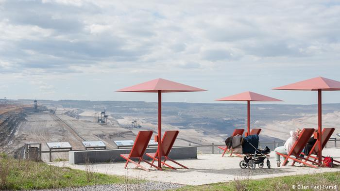 Visitors enjoy the view over the Hambach mine, Germany (Elian Hadj-Hamdi)