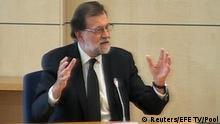 Spanien Madrid Premierminister Rajoy vor Gericht
