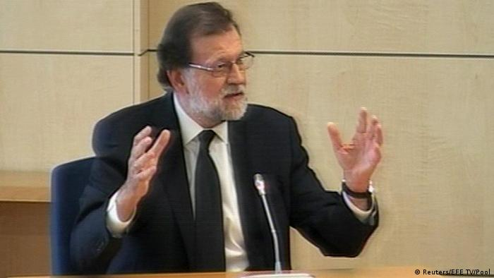 Spanien Madrid Premierminister Rajoy vor Gericht (Reuters/EFE TV/Pool)