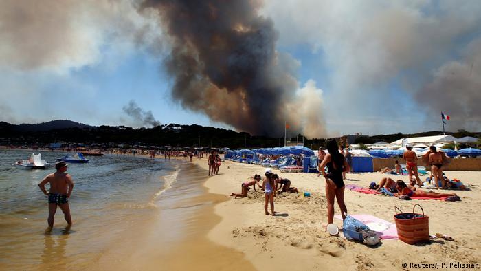 Frankreich Waldbrände in Bormes-les-Mimosas - Strandurlaub