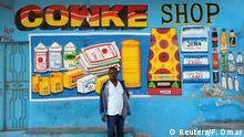 Somalia Wandbilder an Geschäften in Mogadischu