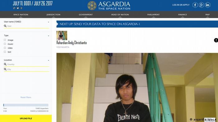 Screenshot asgardia.space (asgardia.space)