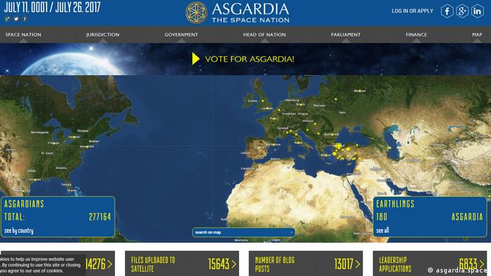 Screenshot asgardia.space (asgardia.space)