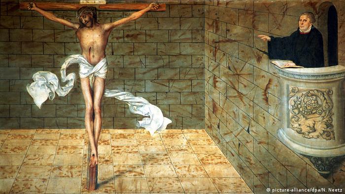 Алтарь Реформации (фрагмент) в храме Святой Марии, Виттенберг
