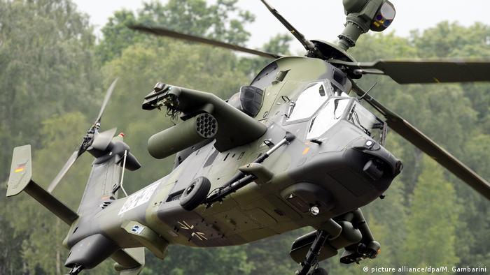 Kampfhubschrauber Tiger - Truppenübungsplatz in Munster