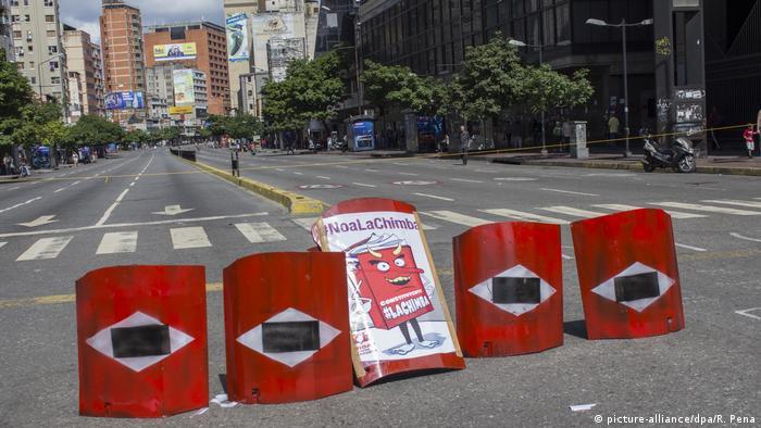 Venezuela - Krise - Generalstreik (picture-alliance/dpa/R. Pena)