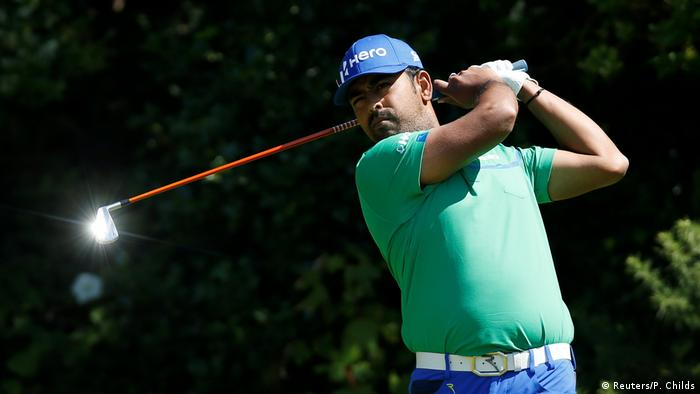 Sportfoto des Monats Juli- Indien Anirban Lahiri Golf 146th Open Championship - Royal Birkdale (Reuters/P. Childs)