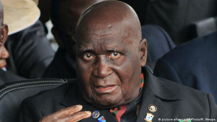 Former Zambian president Kenneth Kaunda (picture-alliance/AP Photo/M. Mwape)