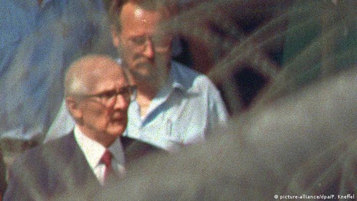 Erich Honecker arrives at Moabit prison in Berlin
