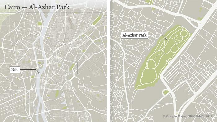 Karte Kairo Al-Azhar Park ENG