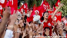 Demonstrators take part in a protest against the country's Islamist-led government in front of the Constituent Assembly headquarters in Tunis, Tunisia, on August 13, 2013, which marks national women's day, as the president proposed a national unity cabinet to end a protracted crisis. The government, led by the Islamist Ennahda party, and its detractors have been locked in a bitter feud sparked by the July assassination of an opposition politician, the second such killing this year. Photo by Nicolas Fauque/Images de Tunisie/ABACAPRESS. COM |