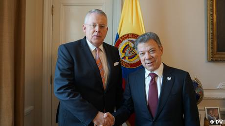 Kolumbien | Peter Limbourg und Juan Manuel Santos