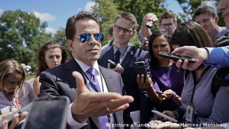 White House communications director Anthony Scaramucci speaks to members of the media at the White House in Washington, Tuesday, July 25, 2017 (picture-alliance/AP Photo/P. Martinez Monsivais)