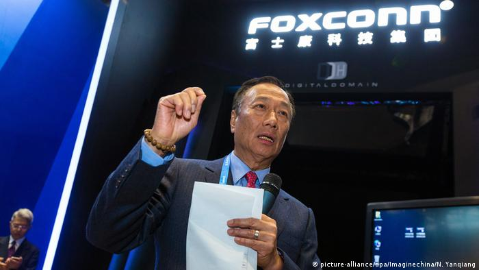 China Foxconn Vorsitzender Terry Gou (picture-alliance/dpa/Imaginechina/N. Yanqiang)