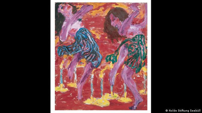 Οι πίνακες του Νόλντε κατασχέθηκαν την περίοδο του εθνικοσοσιαλισμού παρά το ότι ο ίδιος ήταν οπαδός του καθεστώτος. Τα έργα του απαγορεύθηκαν όντας υπερβολικά μοντέρνα ή πειραματικά ή ερωτικά. Κατά τη διάρκεια του πολέμου ζωγράφιζε εν κρυπτώ έργα μικρής κλίμακας, κυρίως με νερομπογιές.