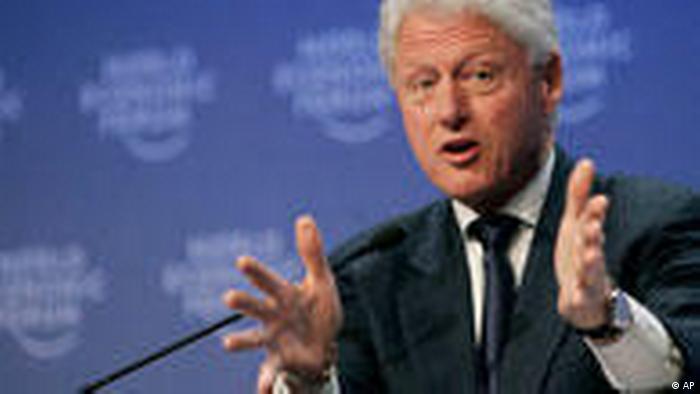 Weltwirtschaftsforum Davos Bill Clinton
