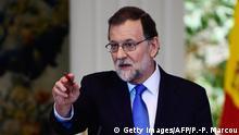 Spanien Madrid - Premierminister Mariano Rajoy bei Pressekonferenz