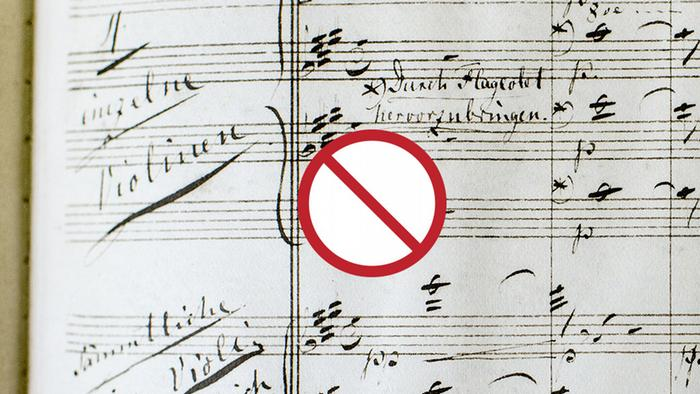 Forbidden sign on Wagner composition