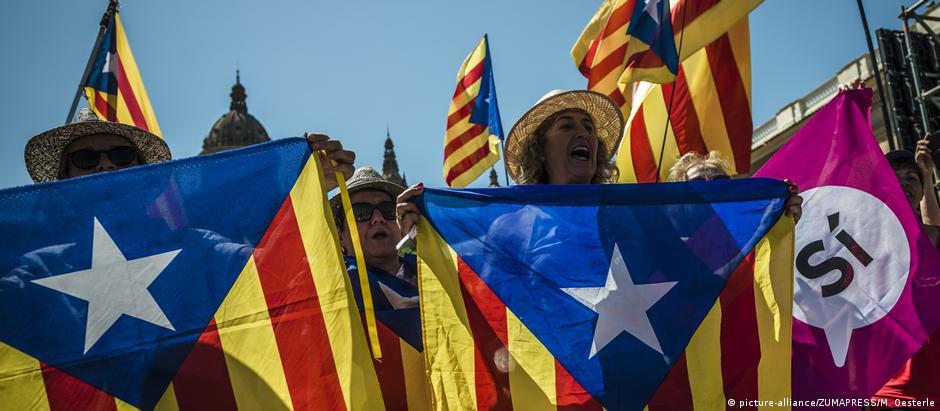Em junho, separatistas fizeram uma manifestação em Barcelona em apoio ao referendo