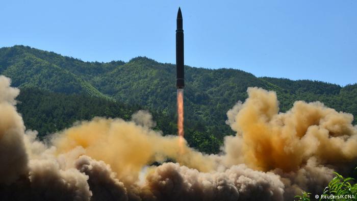 Nordkorea - Raketentest (Reuters/KCNA)