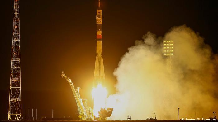 Запуск ракеты Союз с Байконура (фото из архива)