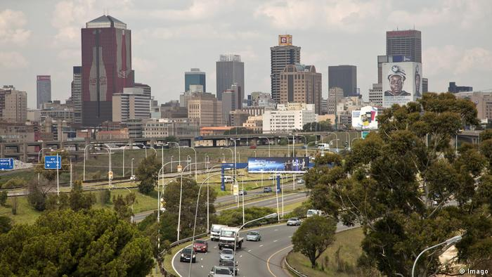 A view of the Johannesburg skyline