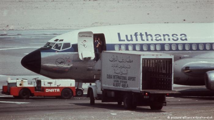Lufthansa Landshut plane in Dubai